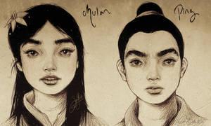 Fa Mulan + Ping .Realistic.
