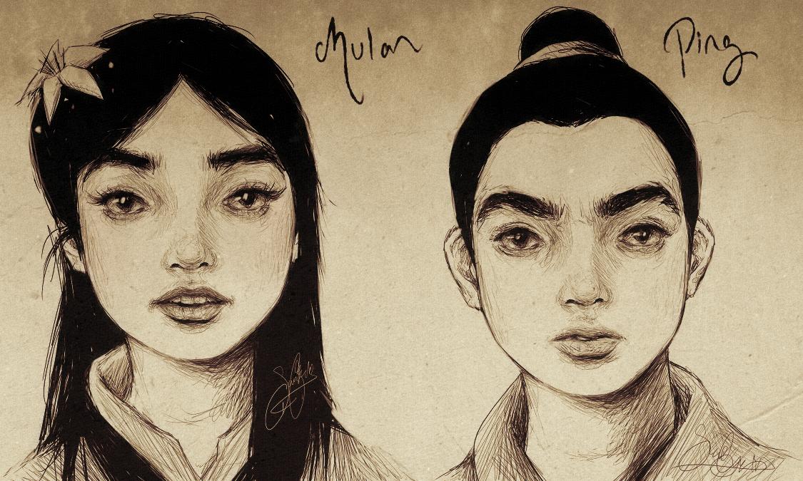 Fa Mulan + Ping .Realistic. by dwightyoakamfan