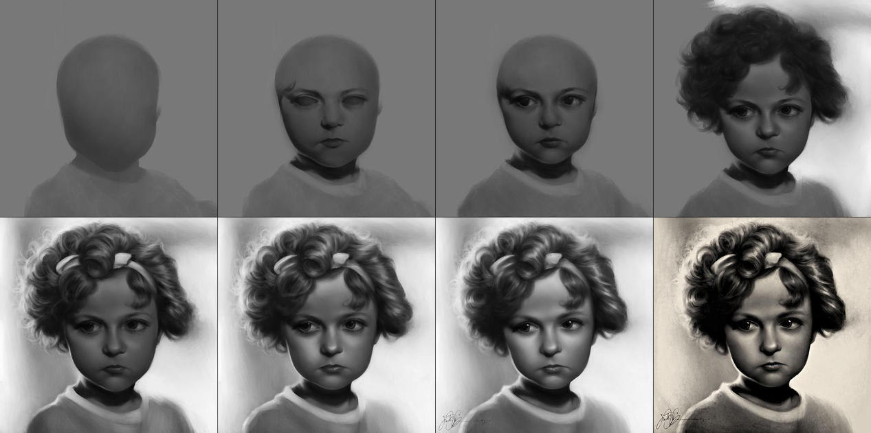Shirley Temple WIP by dwightyoakamfan