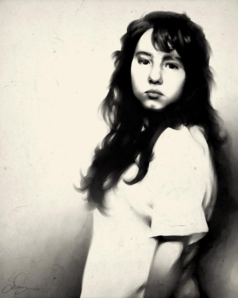 Self Portrait 2012 .Digital Painting. by dwightyoakamfan