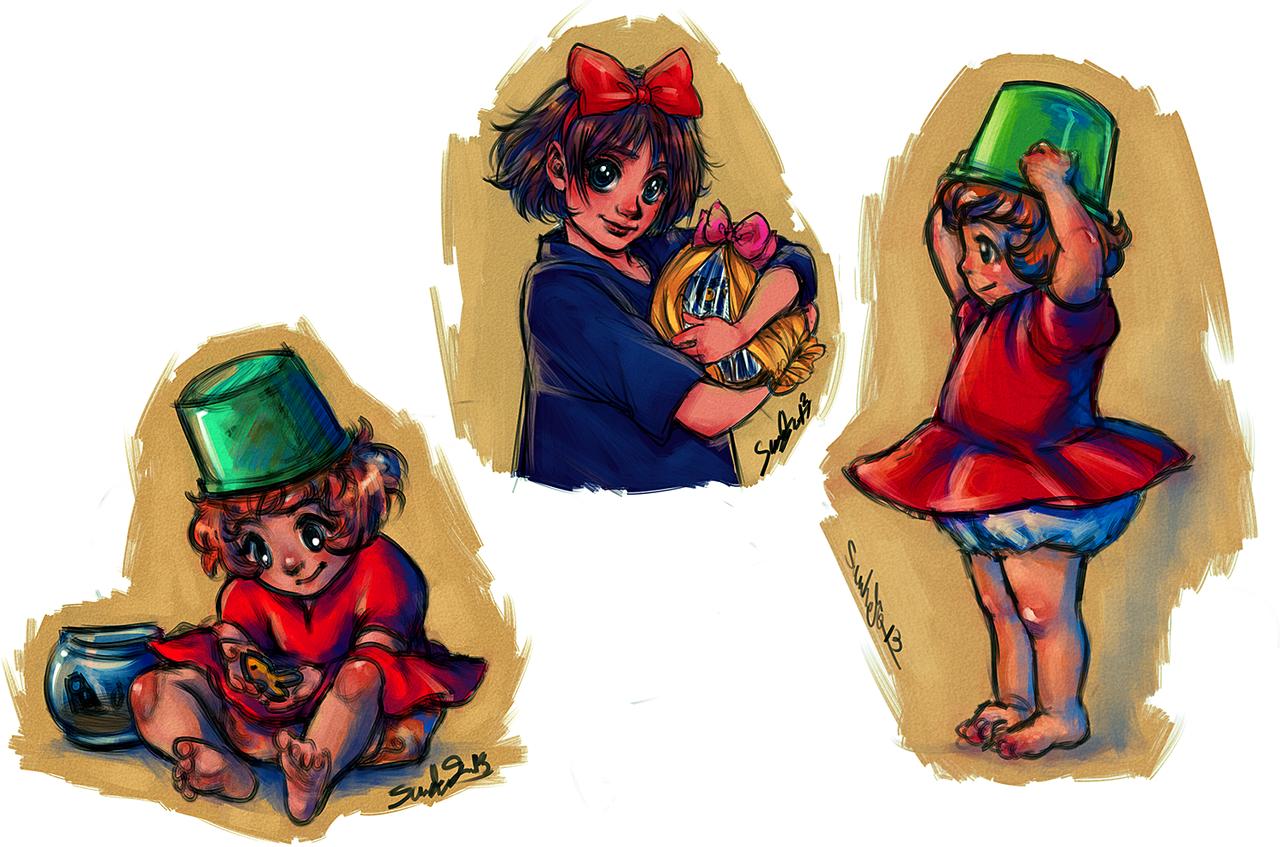 Miyazaki Sketches I by dwightyoakamfan