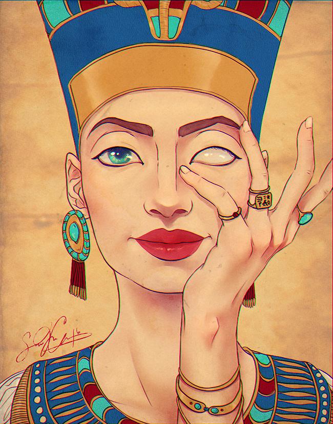 Nefertiti, Queen of the Nile Painting by dwightyoakamfan
