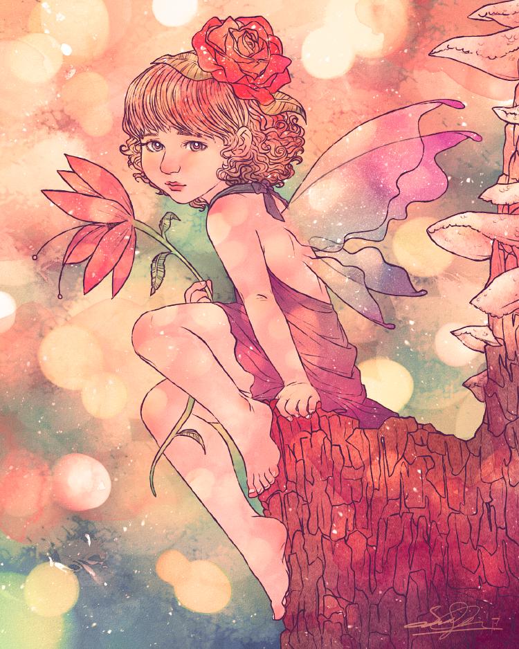 The Little Fairy Painting by dwightyoakamfan