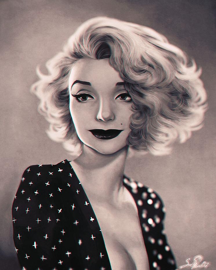 Painting - Gentlemen Prefer Blondes by dwightyoakamfan