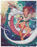 My Painting of Chihiro And Haku
