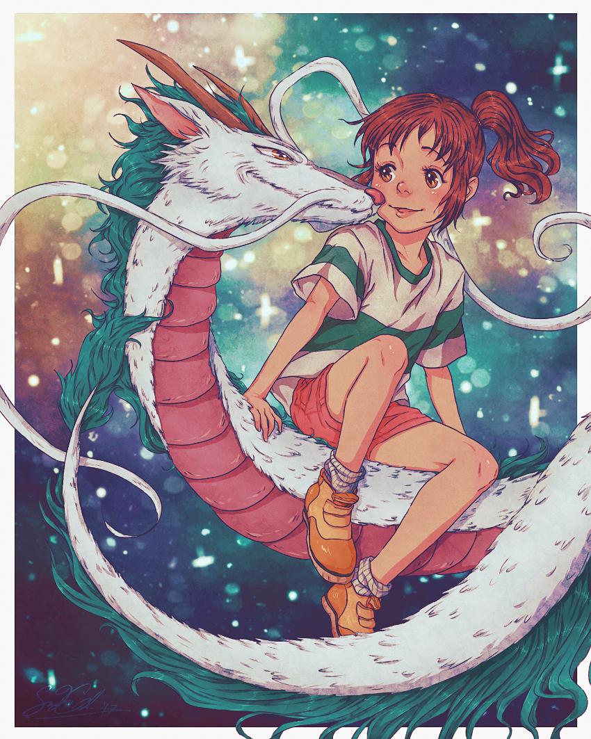 My Painting of Chihiro And Haku by dwightyoakamfan