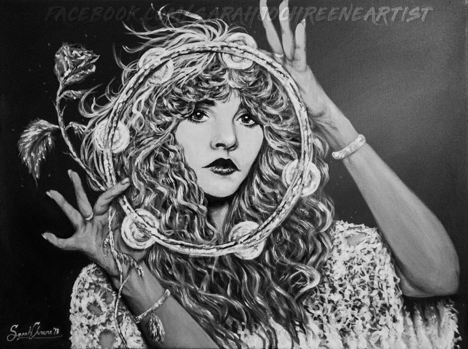 -Acrylic on Canvas- Stevie Nicks 'GYPSY'