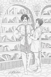 Book Illustration - The Solstice Prince, SJ Himes