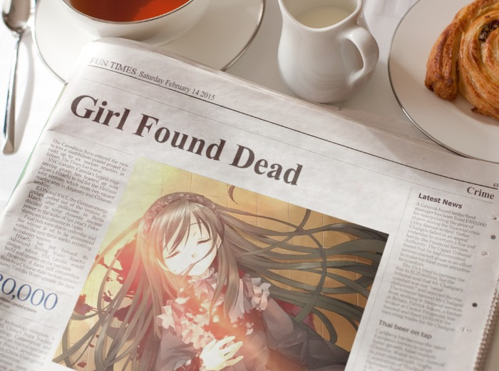 Dead Anime Girl- Newspaper by Ronnie5556