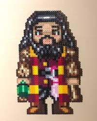 Perler: Hagrid by AmayaMarieSuta