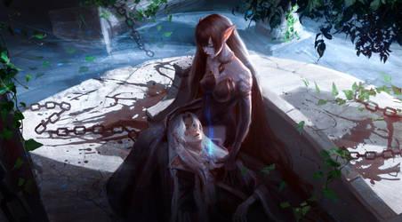 Amakusa Shirou and Semiramis by QuangHoang