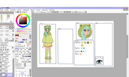 Frog Girl Sheet WiP by Shiako-sama
