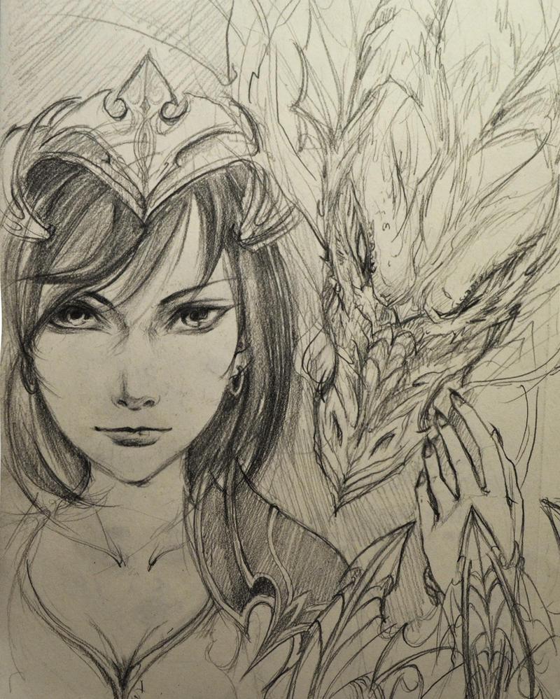 Just a dragon lady. by mythia20514