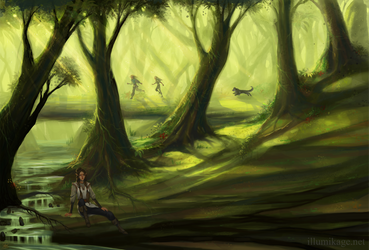 Calen'ndor Forest by Illumikage