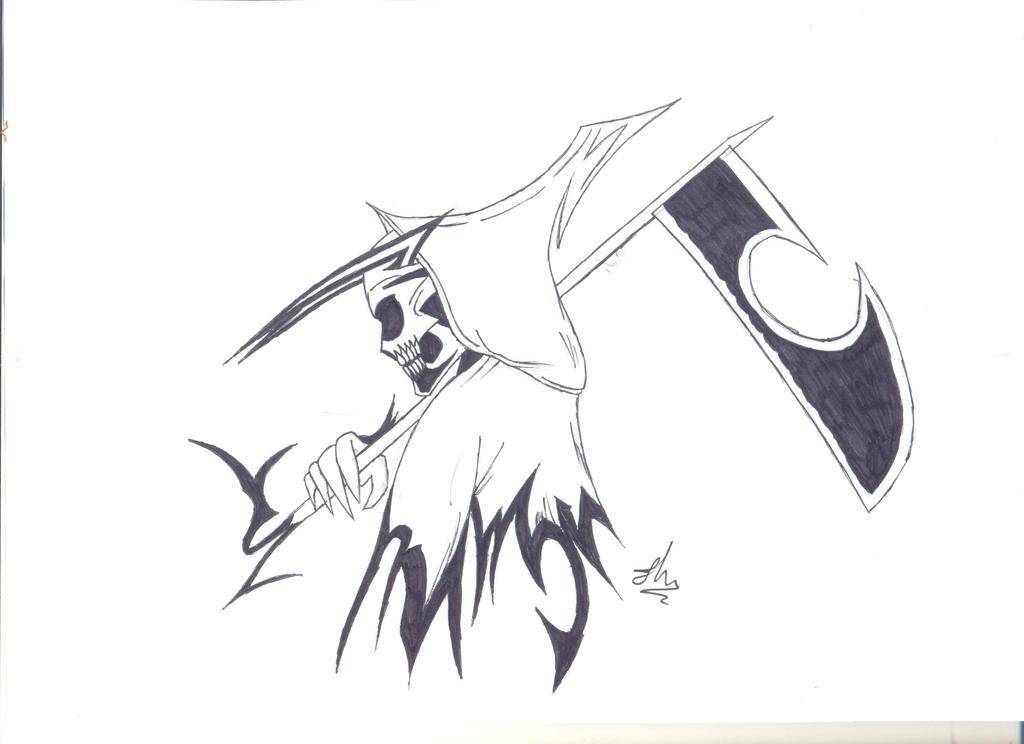 Tribal Grim Reaper Tattoo Drawings