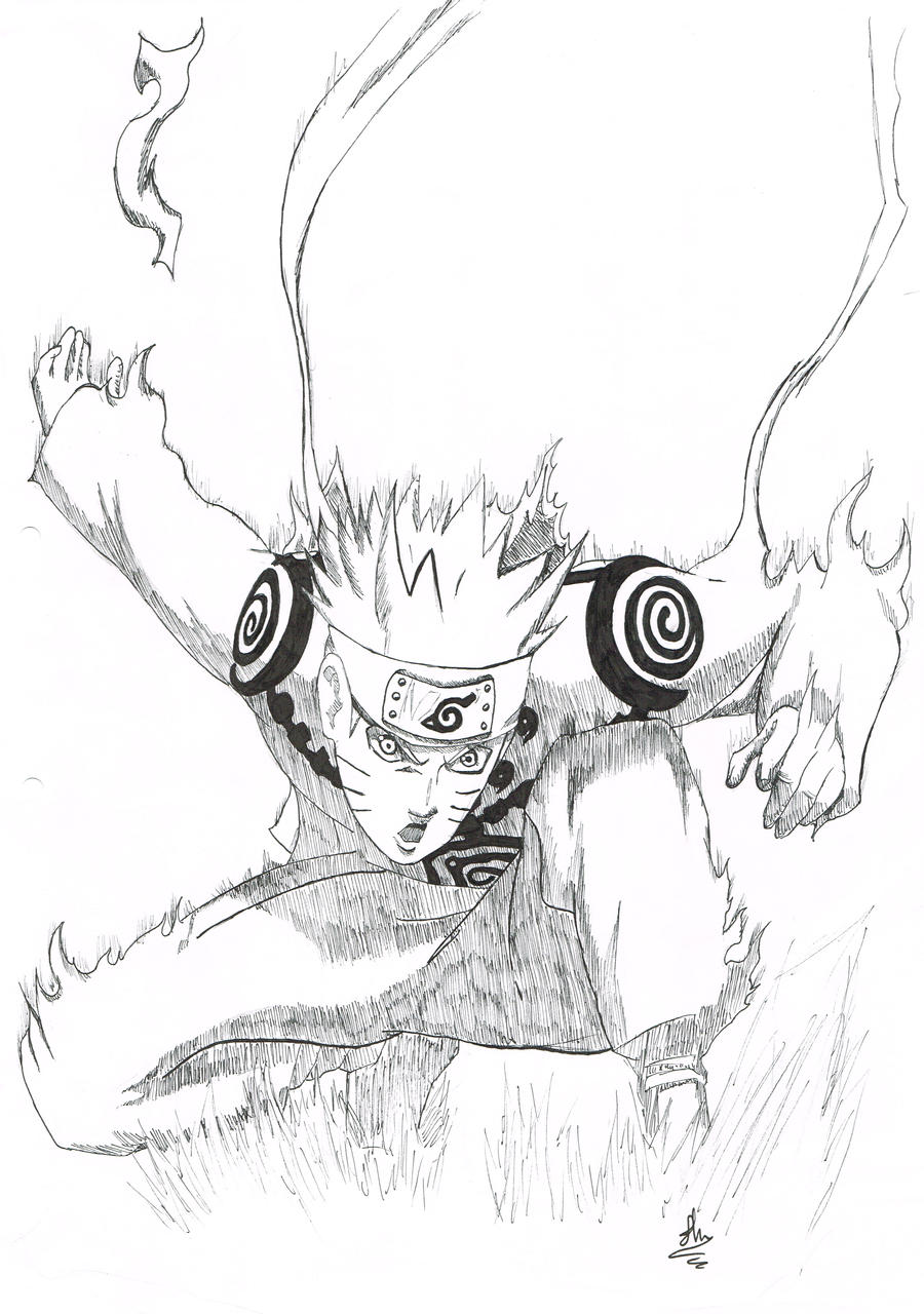 Naruto Sage Kyuubi Mode Coloring Sheet Pictures To Pin On Coloring