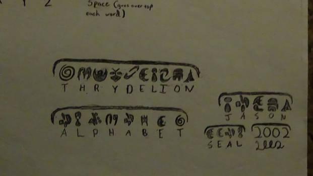 Thrydelion Alphabet