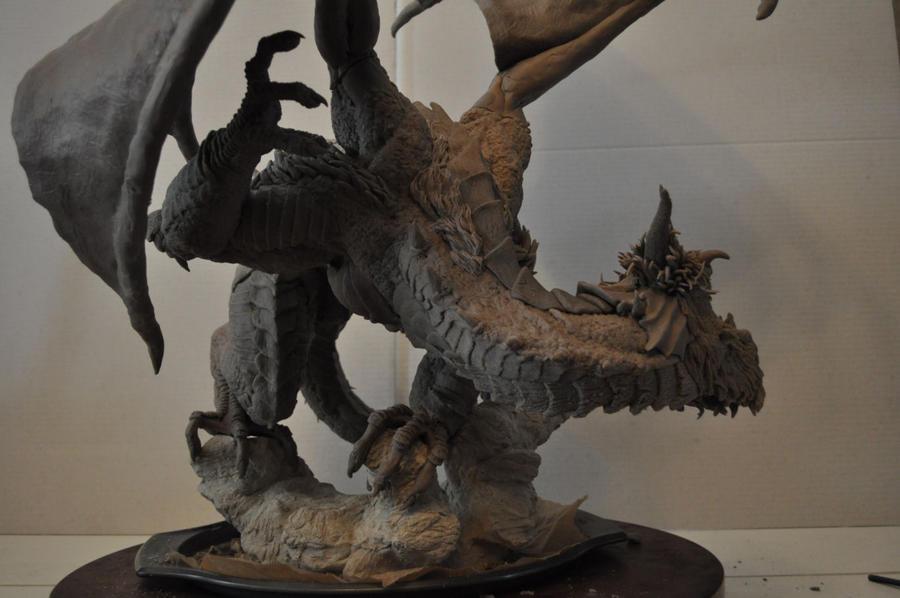 Dragon Wyrm Sculpt WIP 11 by AntWatkins