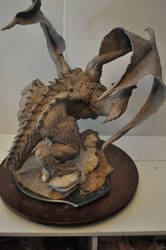 Dragon Wrym Sculpt WIP 12 by AntWatkins