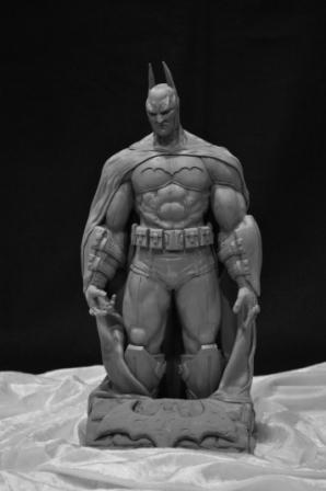Arkham Asylum Batman Statue by AntWatkins