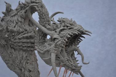 Berserker Dragon Bust by AntWatkins