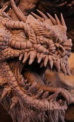 Bull Dragon Wyrm Sculpt Close