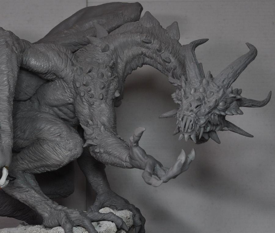 Demon Dragon WIP Design change by AntWatkins