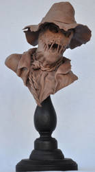 Scarecrow Bust: Monster Clay by AntWatkins