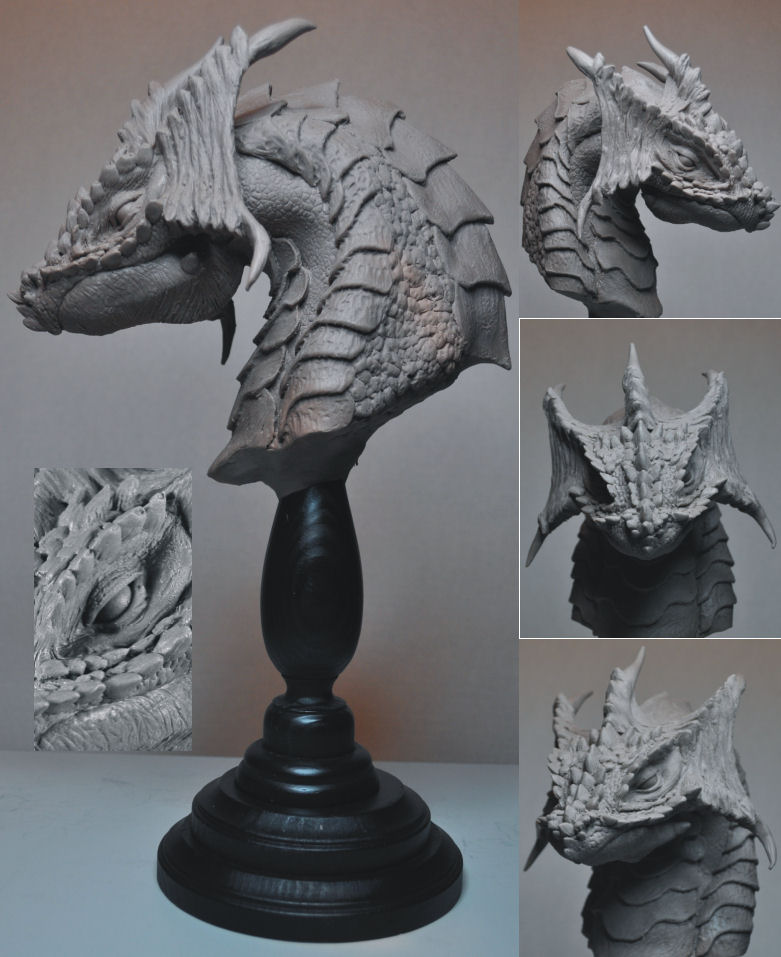 Beaked Hill Dragon Bust by AntWatkins
