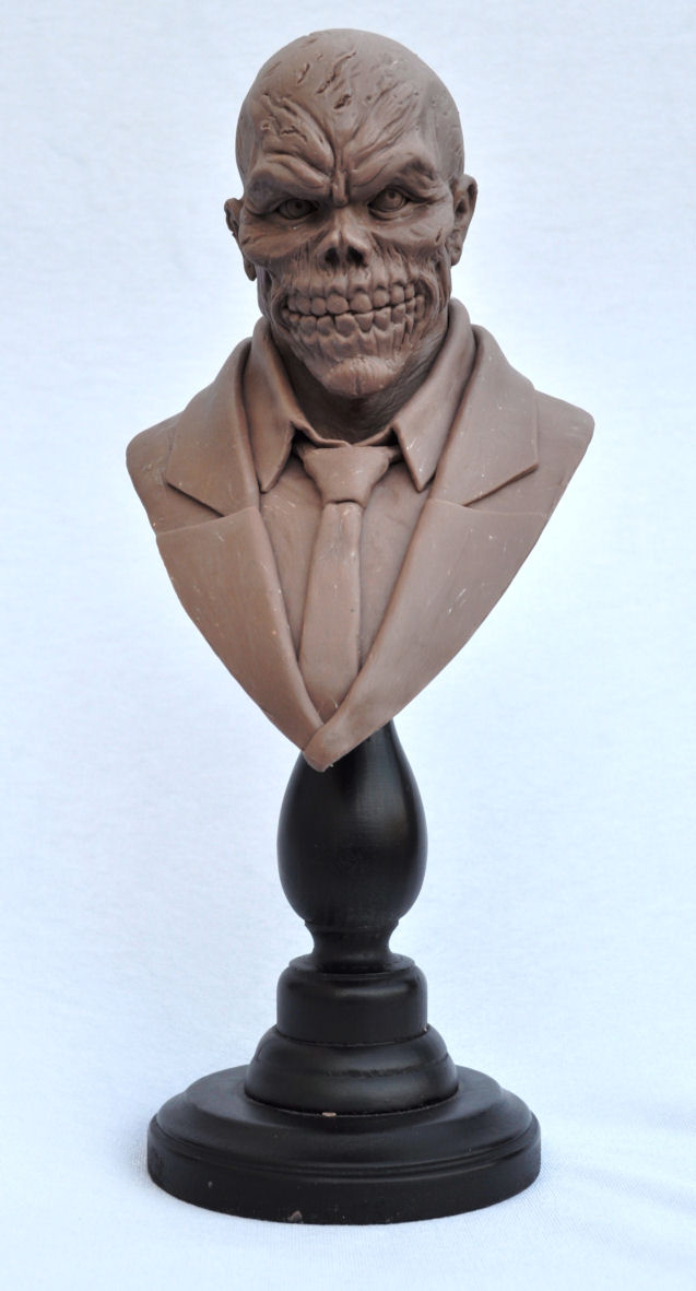 Black Mask Bust Monster Clay Batman Rogues Gallery by AntWatkins