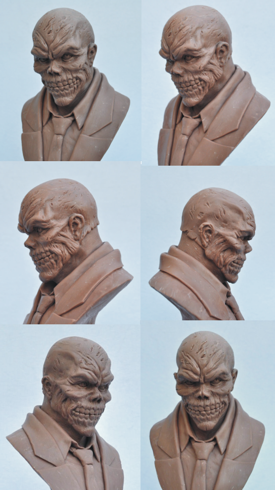 Black Mask Bust Monster Clay Sculpt By Antwatkins On