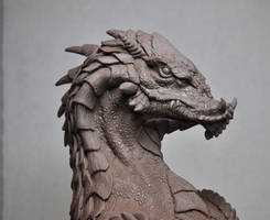 Northern King Dragon Bust sculpt 1 Monster Clay