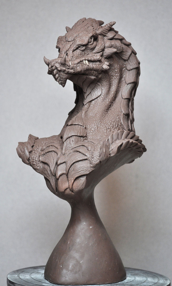 Northern King Dragon Bust 1 by AntWatkins