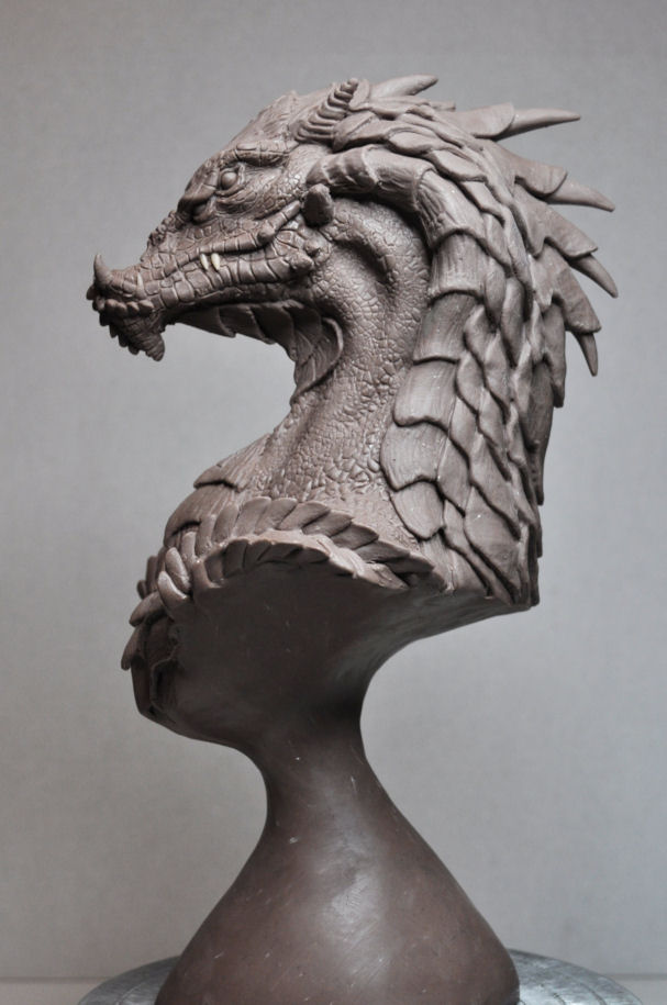 """Northern King"" Dragon Bust 3 by AntWatkins"