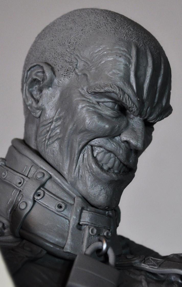 Batman Arkham Asylum inspired Zsasz sculpt by AntWatkins