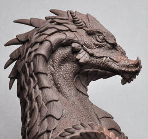 Northern King Dragon bust 5 Monter Clay