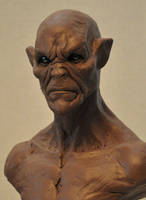 New WIP bust Cursed Majestic monster clay by AntWatkins
