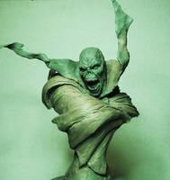 Spawn bust Hellspawn rough sculpt by AntWatkins