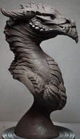 Goliath Dragon Bust Creature Sculpt 1