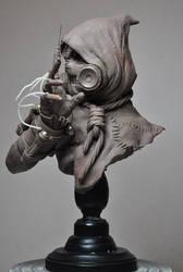 Batman Arkham Asylum Scarecrow Bust Sculpt 2 by AntWatkins