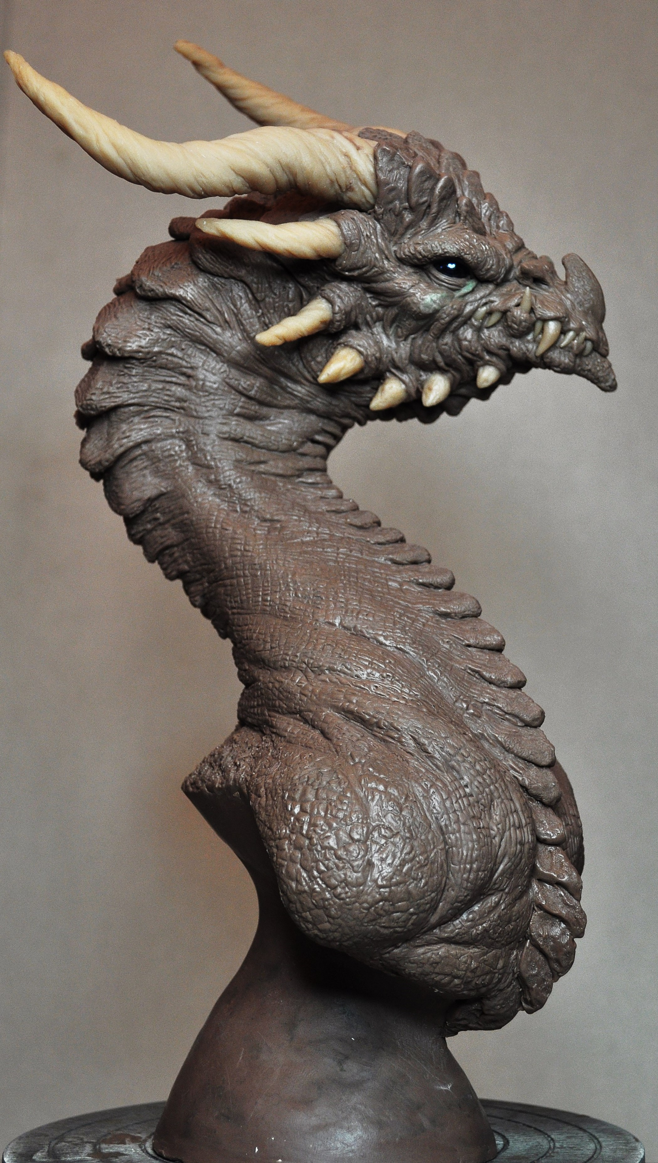 The Corruptor Demon Dragon Bust Monster Clay by AntWatkins