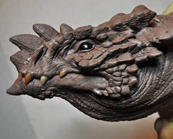 Dragon Plaque sculpt 1 finished Drake by AntWatkins