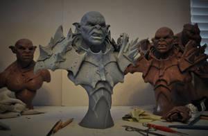 Orc Bust Sculpt 1 by AntWatkins