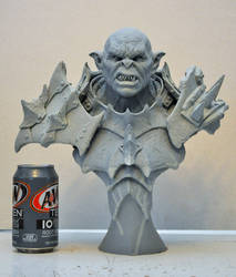 The Iron Hard Orc Bust sculpt
