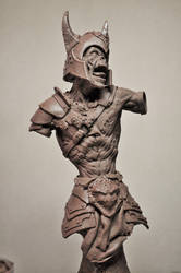 Zombie Warrior Bust 1 Sculpture (missing arms)