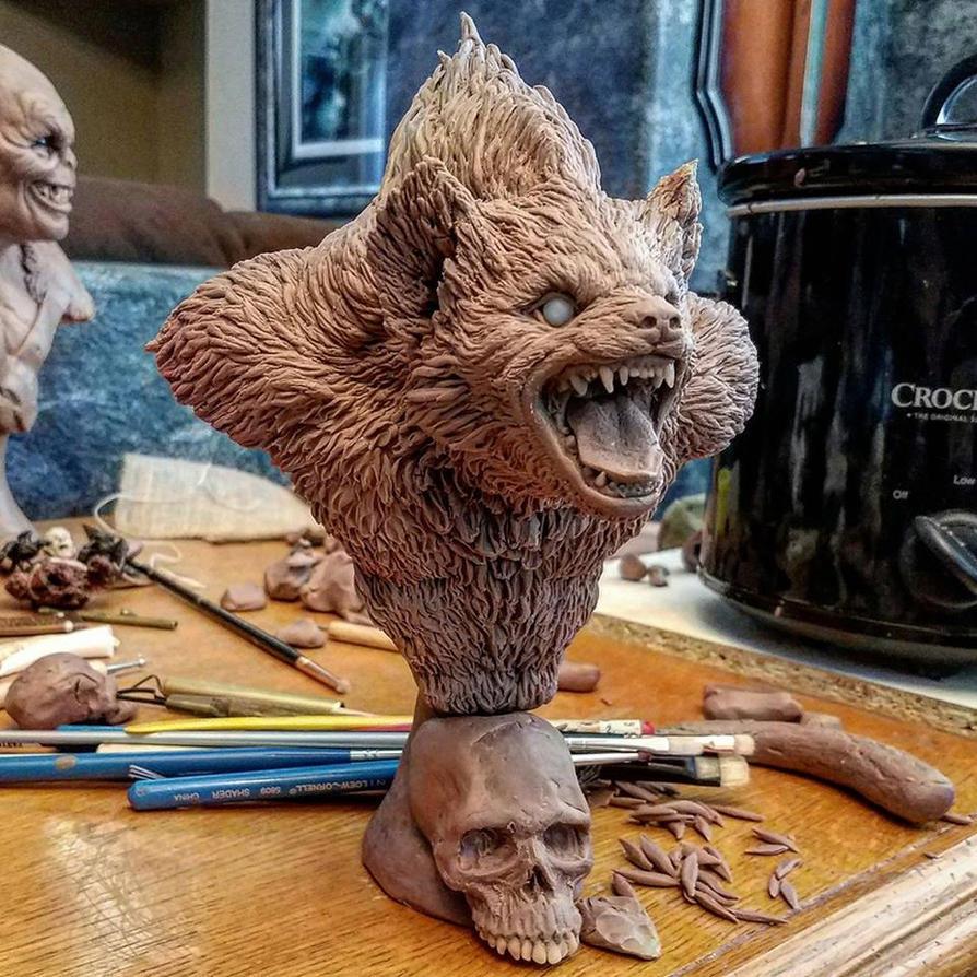 Gnoll Bust Work In Progress by AntWatkins