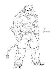 Kral - Full Body (Line-Art) by Mega-Charizar