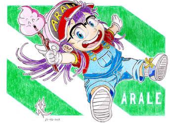 Arale - Dr Slump Fan-Art by Mega-Charizar