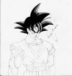 [Old Drawing - 2008] Goku Sketch by Mega-Charizar