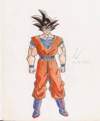 [Old Drawing - 2007] Goku by Mega-Charizar